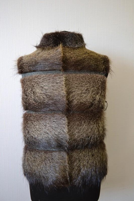 Меховые жилеты из нутрии