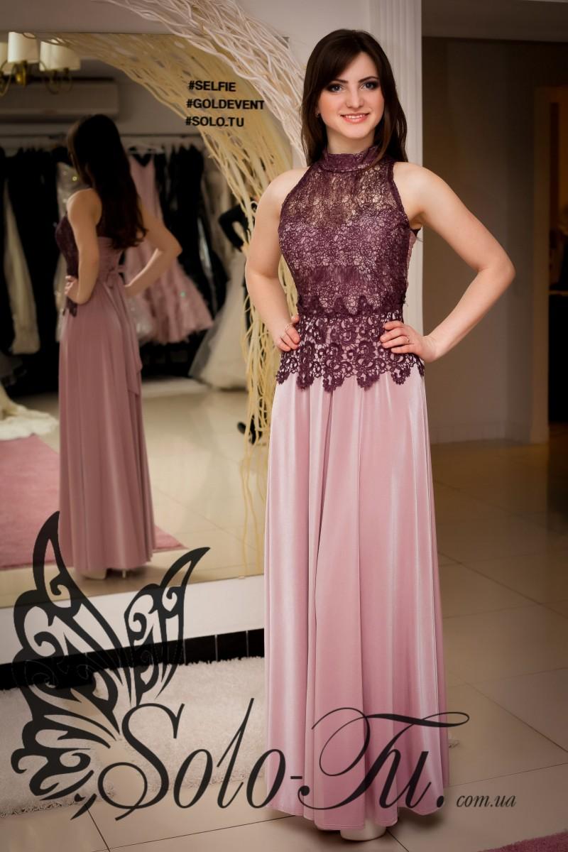 Гипюровые комбинированные платья