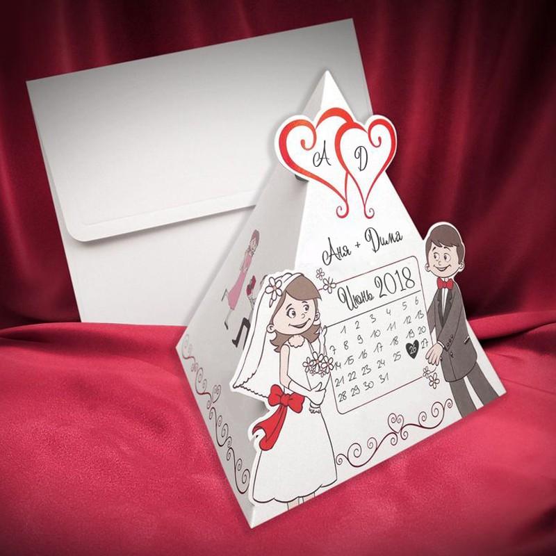 оригинальная открытка на свадьбу с фотографией студийные